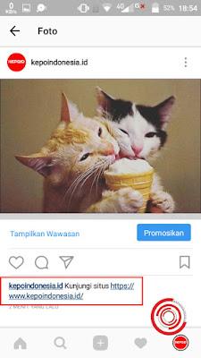 Buka postingan Instagram yang terdapat link lewat OGInsta+
