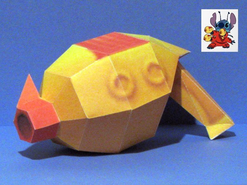 Stitch\u0027s Ray Gun Papercraft Tektonten Papercraft