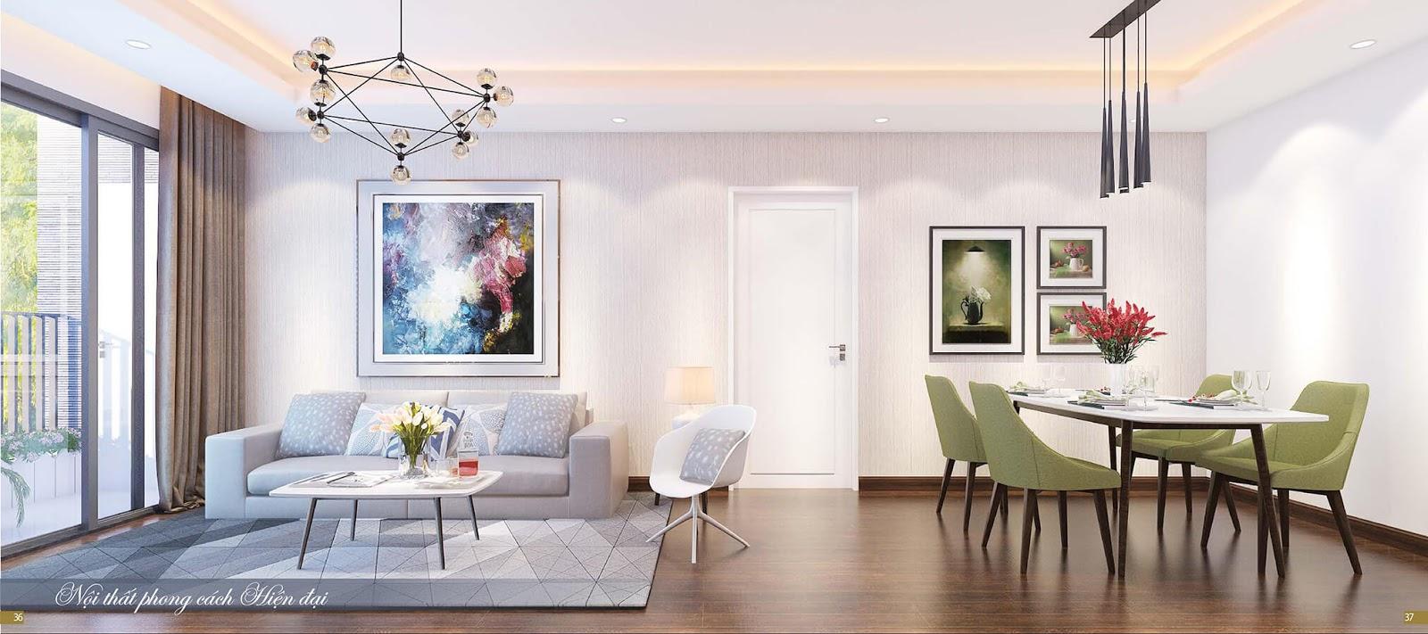 Nội thất cao cấp hiện đại tại dự án chung cư Imperia Sky Garden
