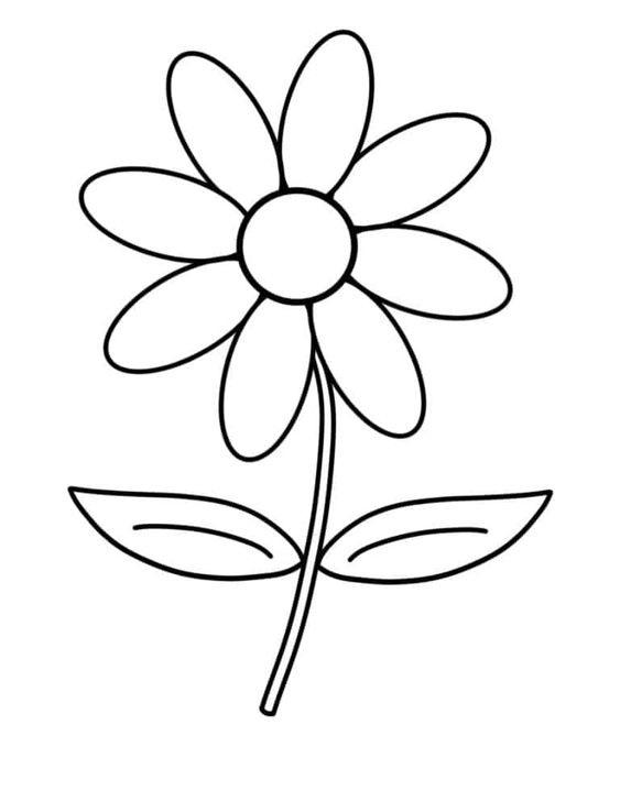Tranh tô màu bông hoa