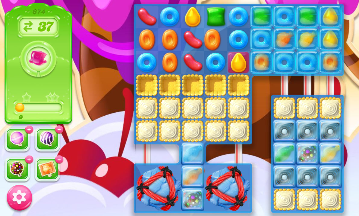 Candy Crush Jelly Saga level 674