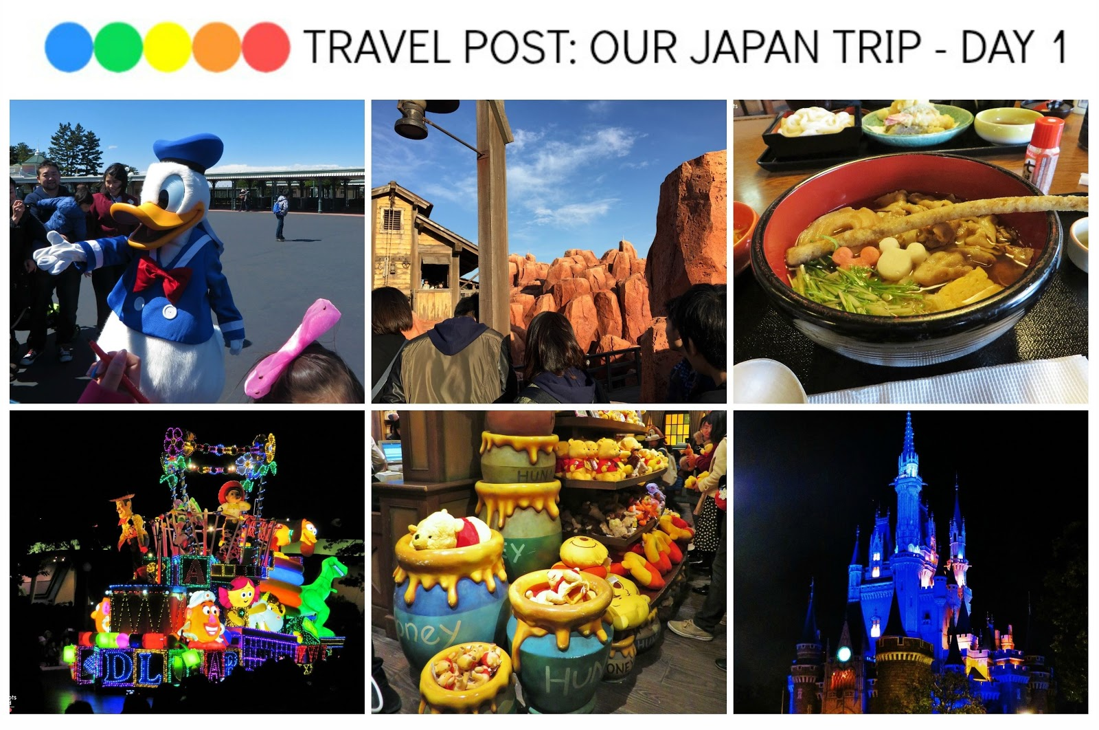 Travel post: Our Japan Trip - Day 1 (Tokyo Disneyland, Restaurant Hokusai and 7-Eleven food)