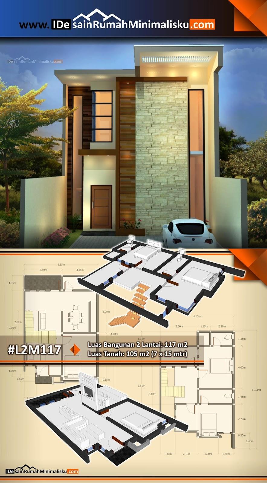 Desain Rumah Minimalis Modern Dan Denahnya Inspirasi Desain Rumah
