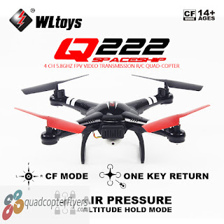 WLToys Q222 Q222G Spaceship FPV Quadcopter Black