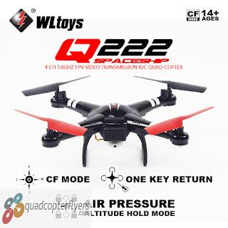 WLToys Q222 Q222G Spaceship FPV Quadcopter Black