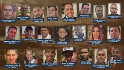 OS MORTOS NA TRAGÉDIA EM BRUMADINHO: 65 CORPOS LOCALIZADOS, 31 IDENTIFICADO
