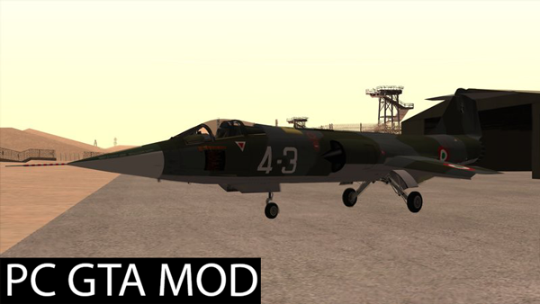 Free Download  F-104S Starfighter  Mod for GTA San Andreas.