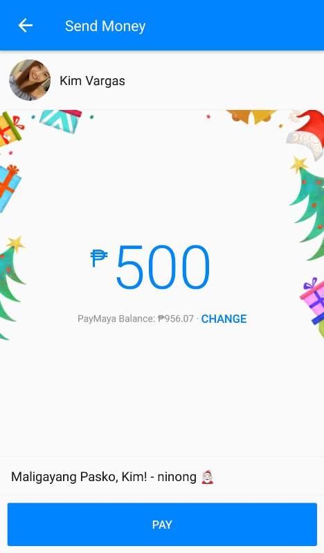 "Send ""Pamasko"" through PayMaya's Digital Aguinaldo Service in Messenger"