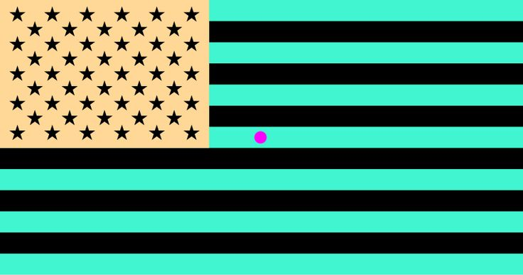 illusion optical flag american instructions stare dot count move eyes during pink