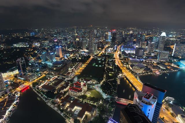 singapur, barvy, budovy, cestování, svět, singapore, one raffles place