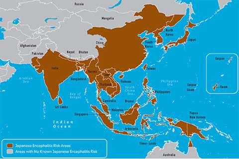 Zona endémica de Encefalitis Japonesa