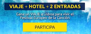 Sorteo dos entradas final eurovision 2018 + viaje + hotel