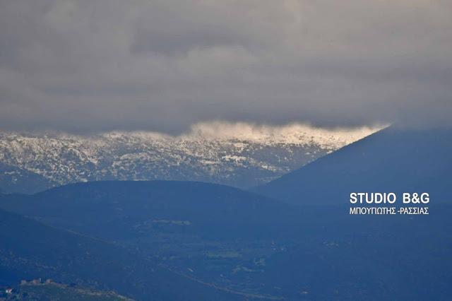 Τα πρώτα χιόνια εμφανίστηκαν στην Αργολίδα