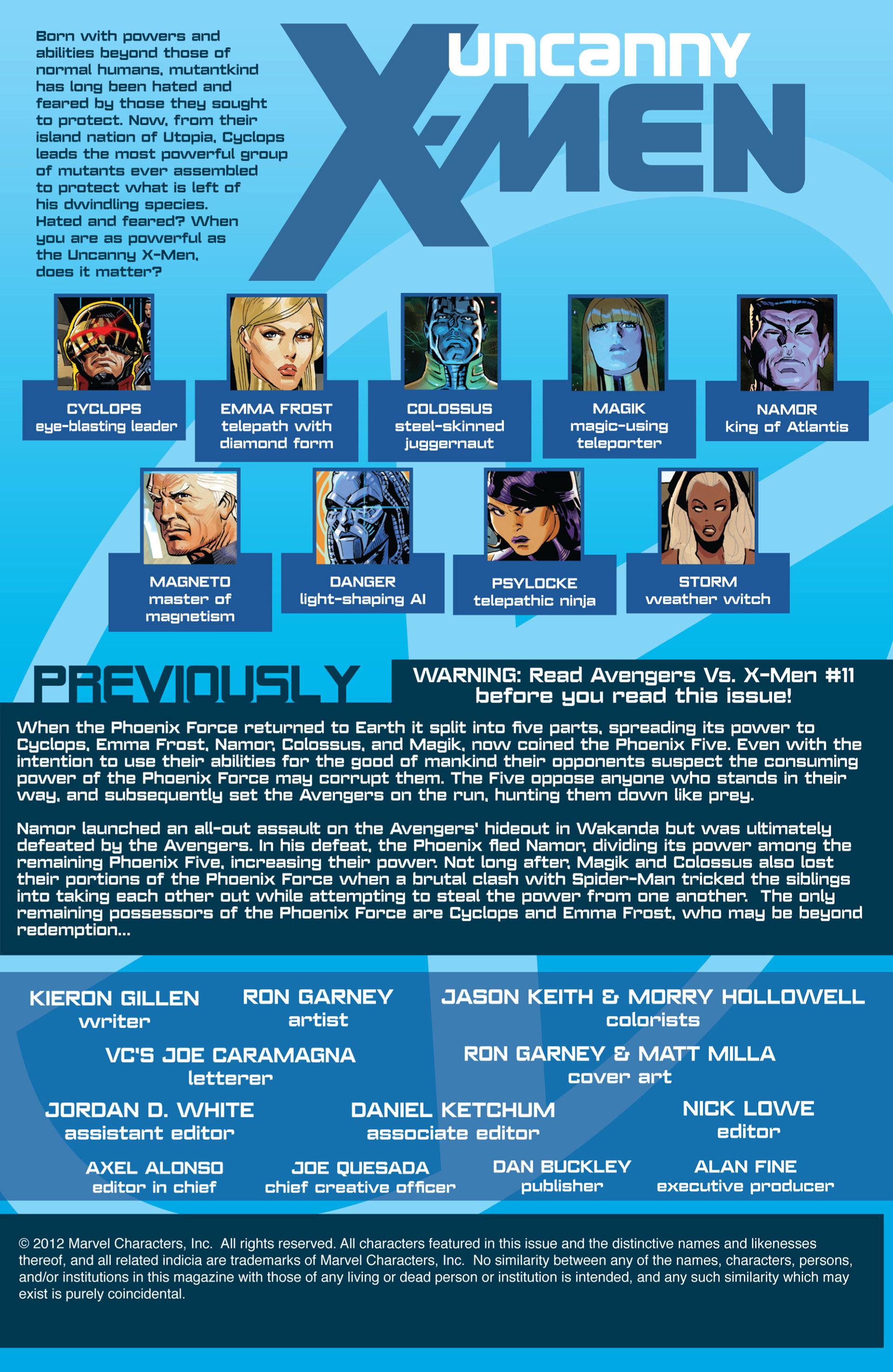 Read online Uncanny X-Men (2012) comic -  Issue #18 - 2