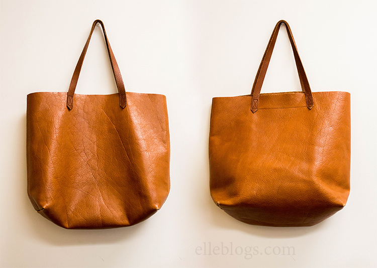 Brown Leather Tote Madewell Transport Review Elle