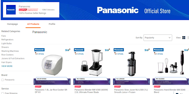 Panasonic, Barang Elektrik, Lazada Malaysia, Shopathon Sale, My Favorite Brands On Lazada, Jenama, Lazada Shopathon Blogger Contest, 2018,