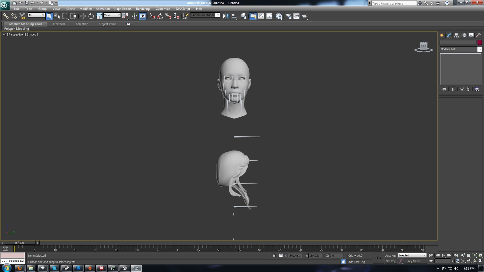 Otte's workshop: Tutorial: Porting hairstyles using 3ds 2012