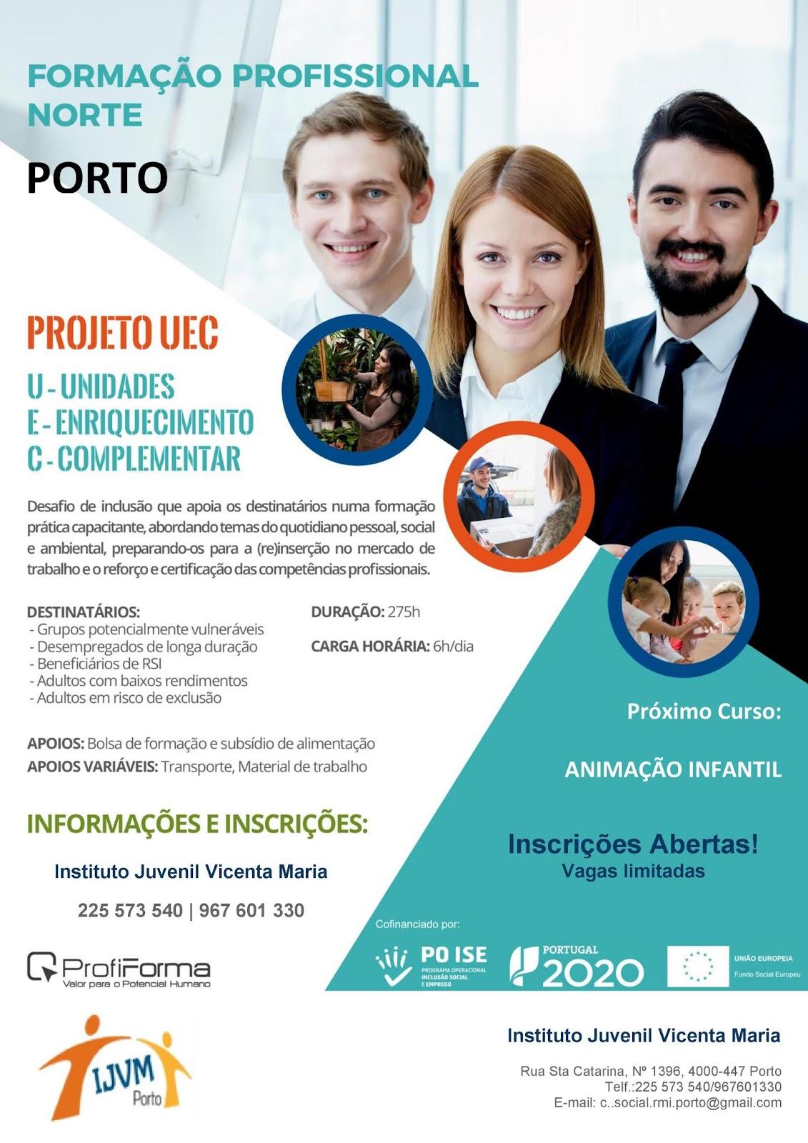 Formação financiada no Porto – 2018