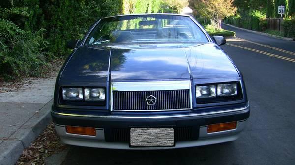Daily Turismo Call Me Mr The Baron 1988 Chrysler Lebaron Convertible