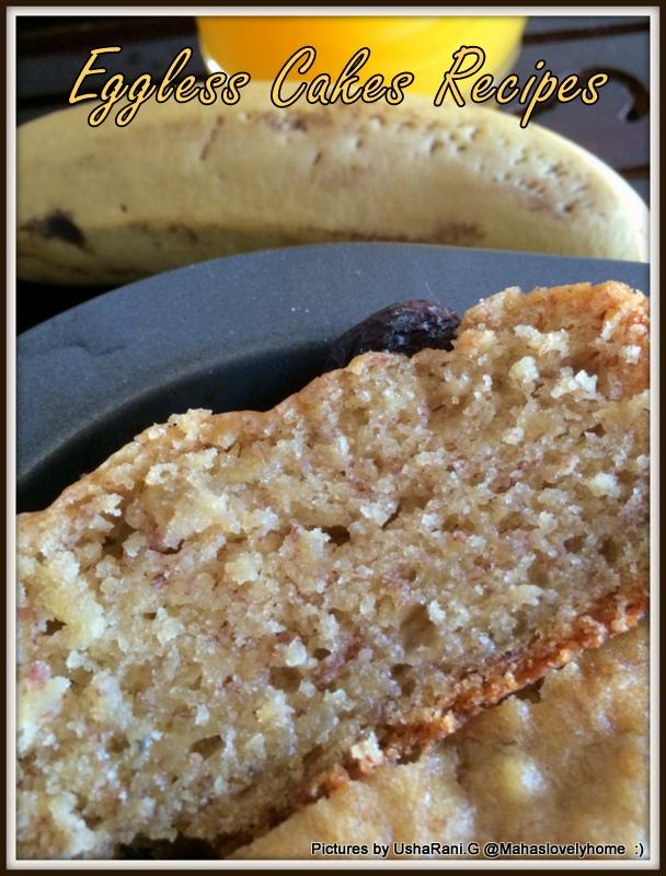 Banana Eggless Cake Apple Cider Vinegar