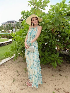 long dress cantik korea