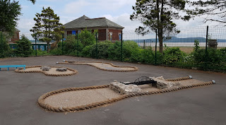 Crazy Golf course at Promenade Park in Grange-over-Sands