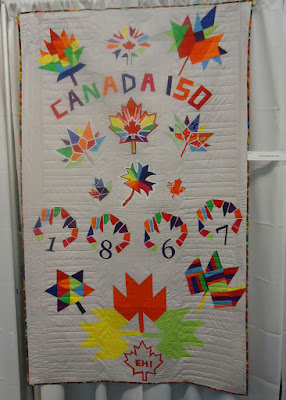 Canada 150 Quilt by the Ottawa Modern Quilt Guild