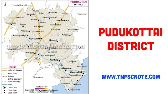 Puthukottai District Information, Boundaries and History from Shankar IAS Academy