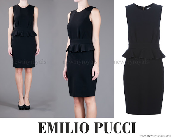 Crown Princess Mette-Marit wore Emilio Pucci Stretch Peplum Dress