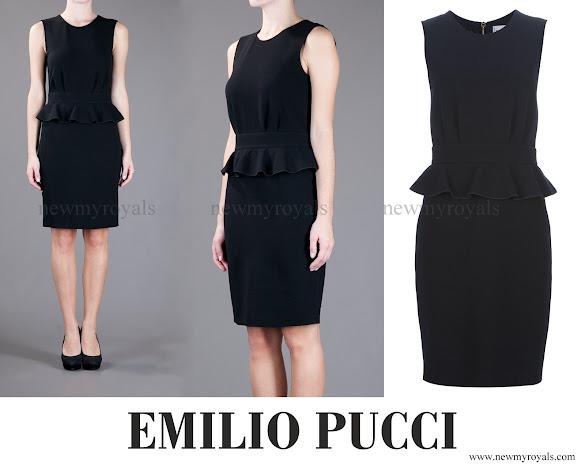 Crown Princess Mette-Marit wore Emilio Pucci Stretch Peplum Dress