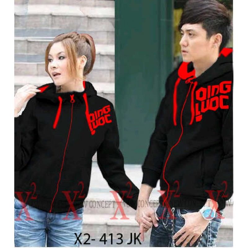 Jual Jacket Couple Jacket Black Qing - 21947