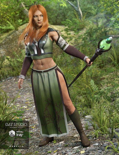 Woodland Summoner Outfit for Genesis 3 Female