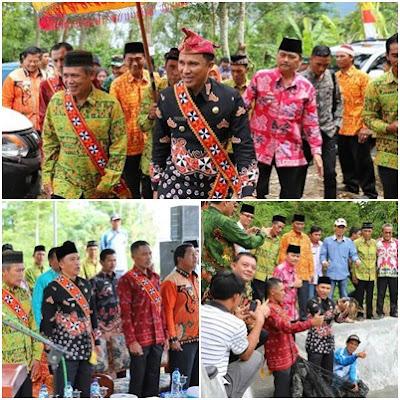 Bupati Lampung Barat Resmikan Embung Desa Pekon Sukabanjar