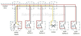 wiring diagram saklar impuls