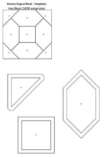 Kansas Dugout Quilt Block templates