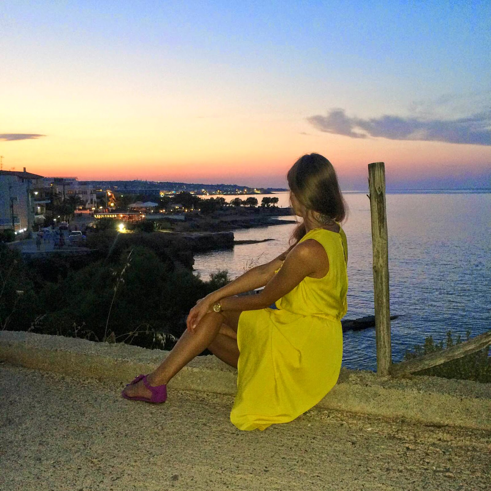 tfnc yellow dress hersonissos crete night