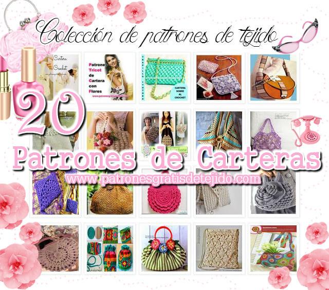 20 patrones crochet y tricot de carteras para hacer tu misma