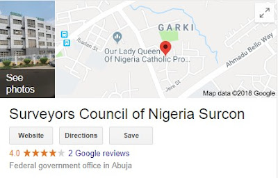 Surveyors Council Of Nigeria Recruitment Login 2018/2019 | (SURCON) Application Guidelines