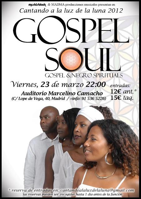 Quinteto Gospel Soul en Madrid este viernes