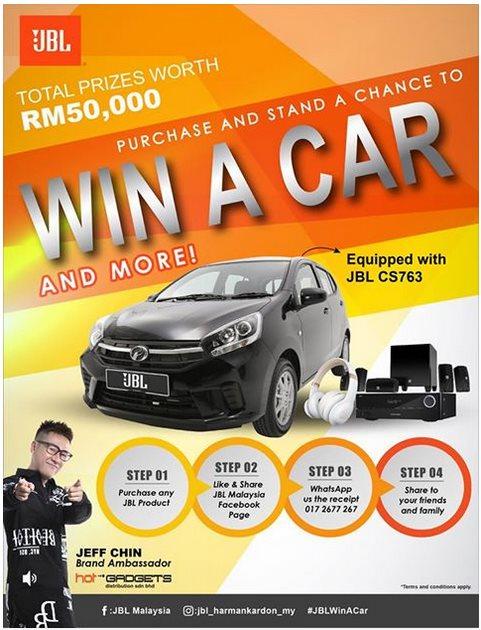 Purchase JBL & Win Perodua Axia Contest - Malaysia Online