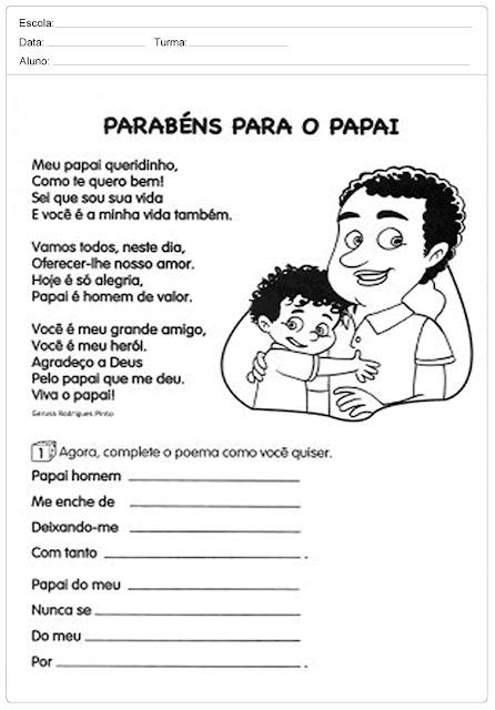 Atividades para Dia dos Pais – Ensino Fundamental
