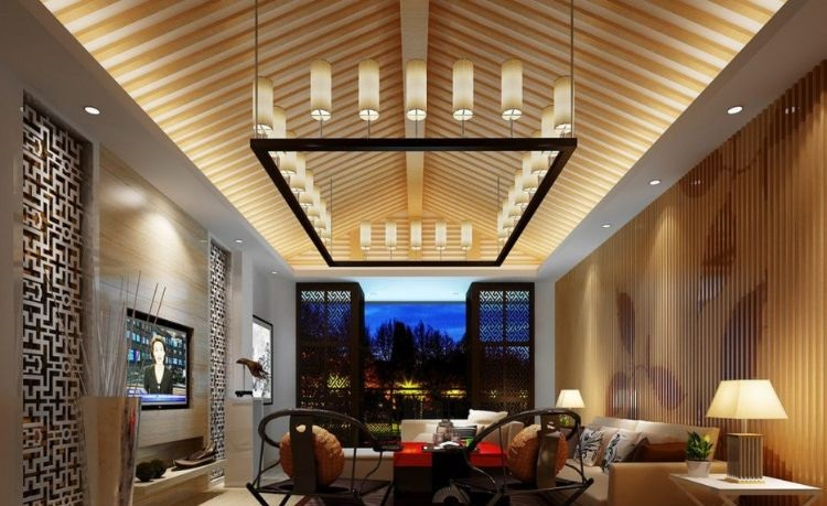 There Are Many Possibilities For LED Indirect Lighting The Ceiling Our Last Suggestion Is A Living Room With An Interesting Deck Bar Design