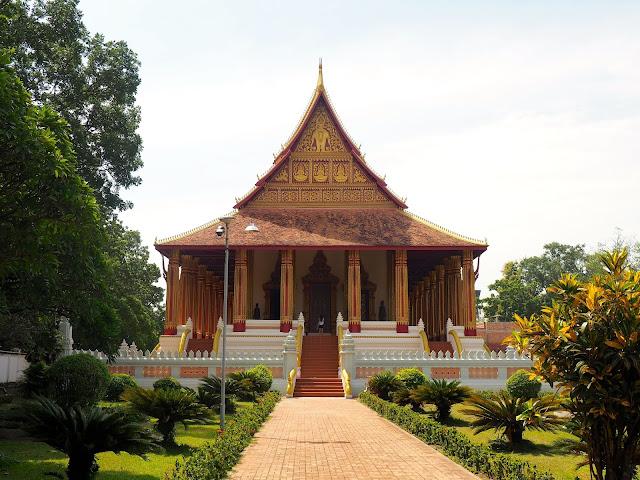 Ho Phra Keo temple museum in Vientiane, Laos