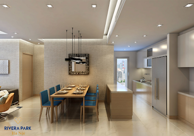 Phòng bếp ăn dự án Rivera Park Vũ Trọng Phụng