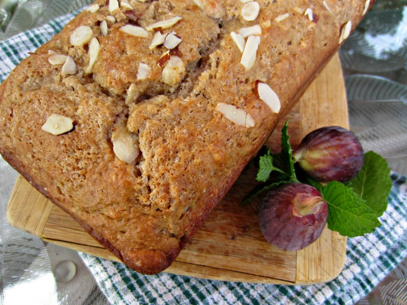 Fresh Fig and Almond Quick Bread