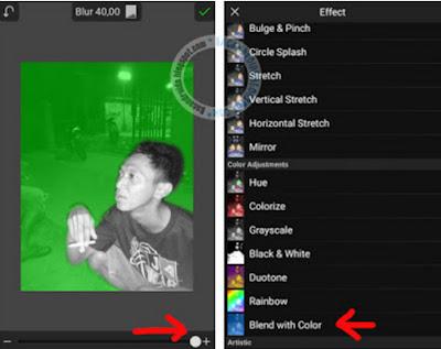 Efek foto Editing Membuat Efek Asap Rokok Berwarna keren
