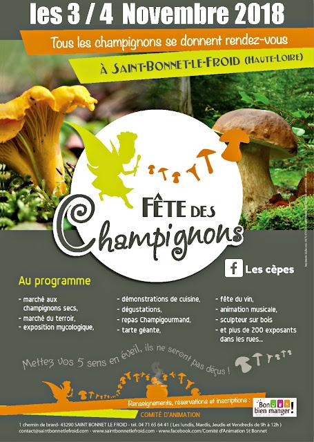 Fête des Champignons de Saint Bonnet Haute-Loire Auvergne 2018