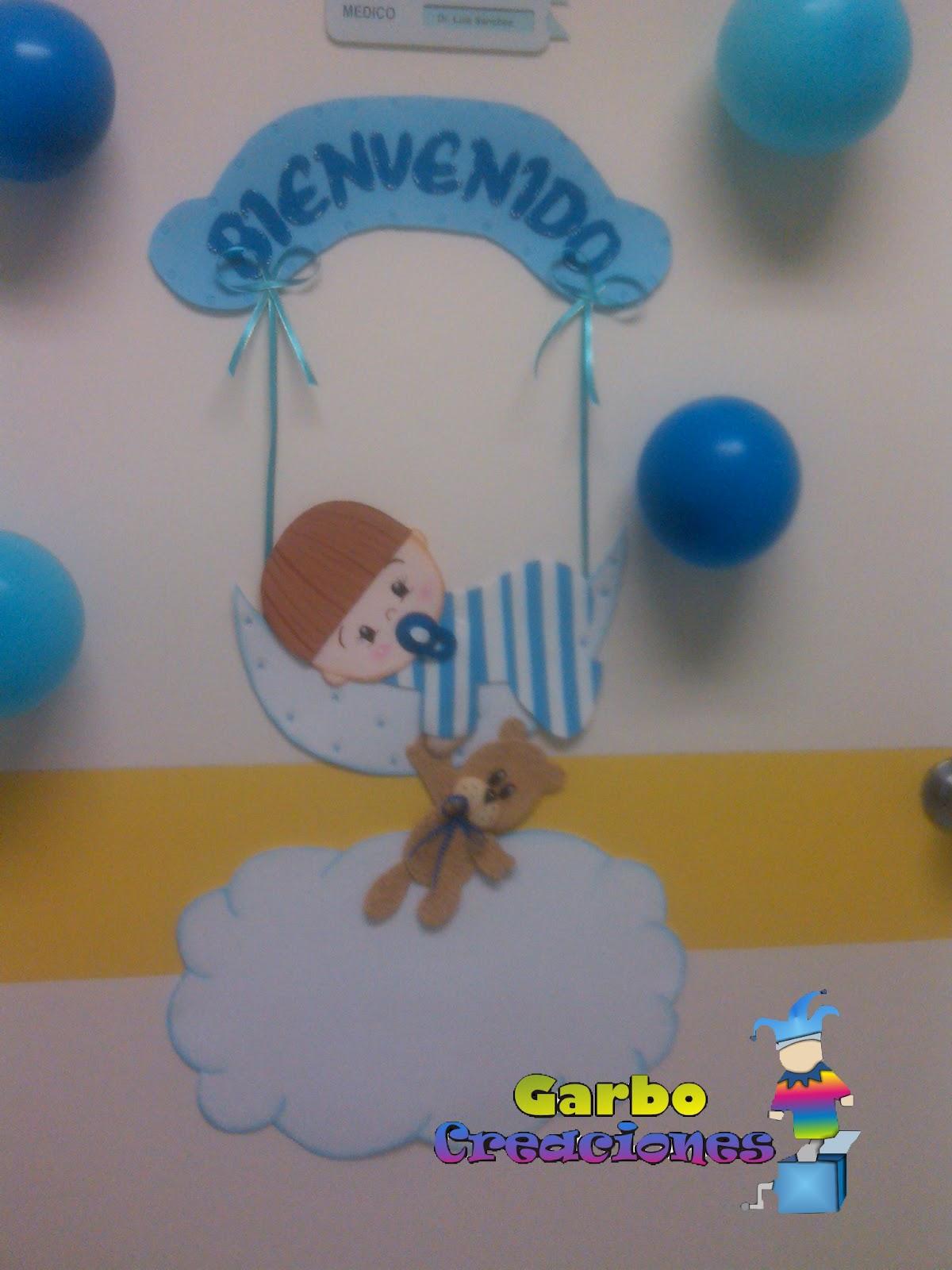 Garbo creaciones kit de decoracion para puertas nacimientos for Decoracion habitacion bebe goma eva