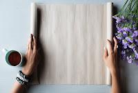 Open blank parchment paper
