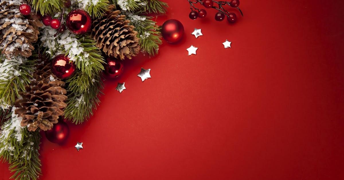 Rode kerst wallpaper  Bureaublad Achtergronden